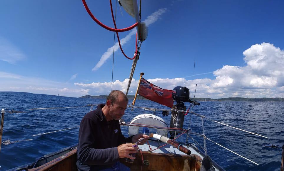 A chat with a sailor whose boat is hishome